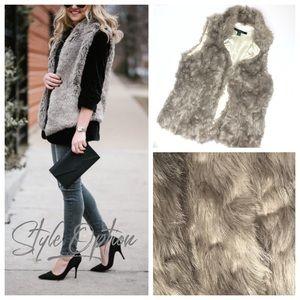 Faux Fur Fully Satin Lined Vest L